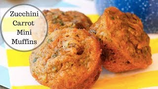 Healthy Zucchini Carrot Mini Muffins!!