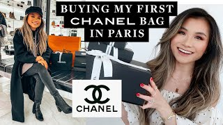 MY FIRST CHANEL HANDBAG UNBOXING 2020 | Buying my first Chanel haul in Paris | Miss Louie