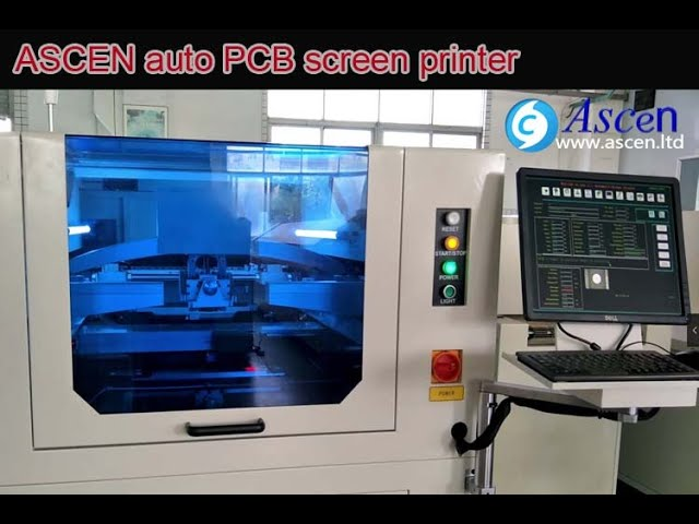 auto pcb screen printer , auto PCB stencil printer , PCB solder paste printer ,  PCB screen printer, SMT stencil printer