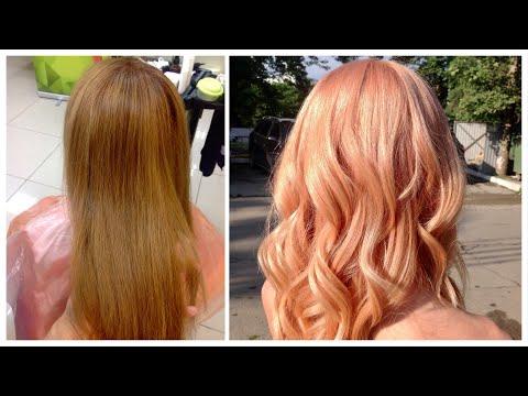 Розовое золото Окрашивание / Rose Gold Hair Color TUTORIAL