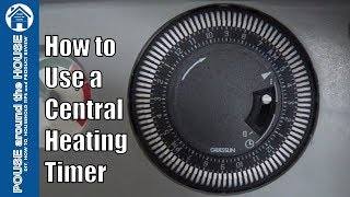 How to use/set a central heating timer. Combi boiler mechanical timer (Baxi Duo Tec)