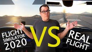 Flight Simulator 2020 VS REAL LIFE | Side By Side Flight