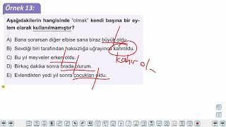 Eğitim Vadisi TYT Türkçe 19.Föy Fiiller 2 Konu Anlatım Videoları