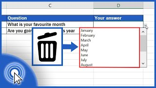 How to Remove a Drop-Down List in Excel