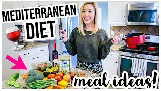 MEDITERRANEAN DIET WHAT I EAT IN A DAY! 🥒🍷🍕HEALTHY LIFESTYLE + WEIGHT LOSS MEAL IDEAS | Brianna K