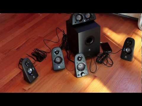 Logitech Z506 Speakers Unboxing, Setup, Sound Test | Logitech