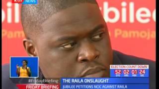 Jubilee party wants Raila Odinga to be charged over hate speech utterances in Kajiado