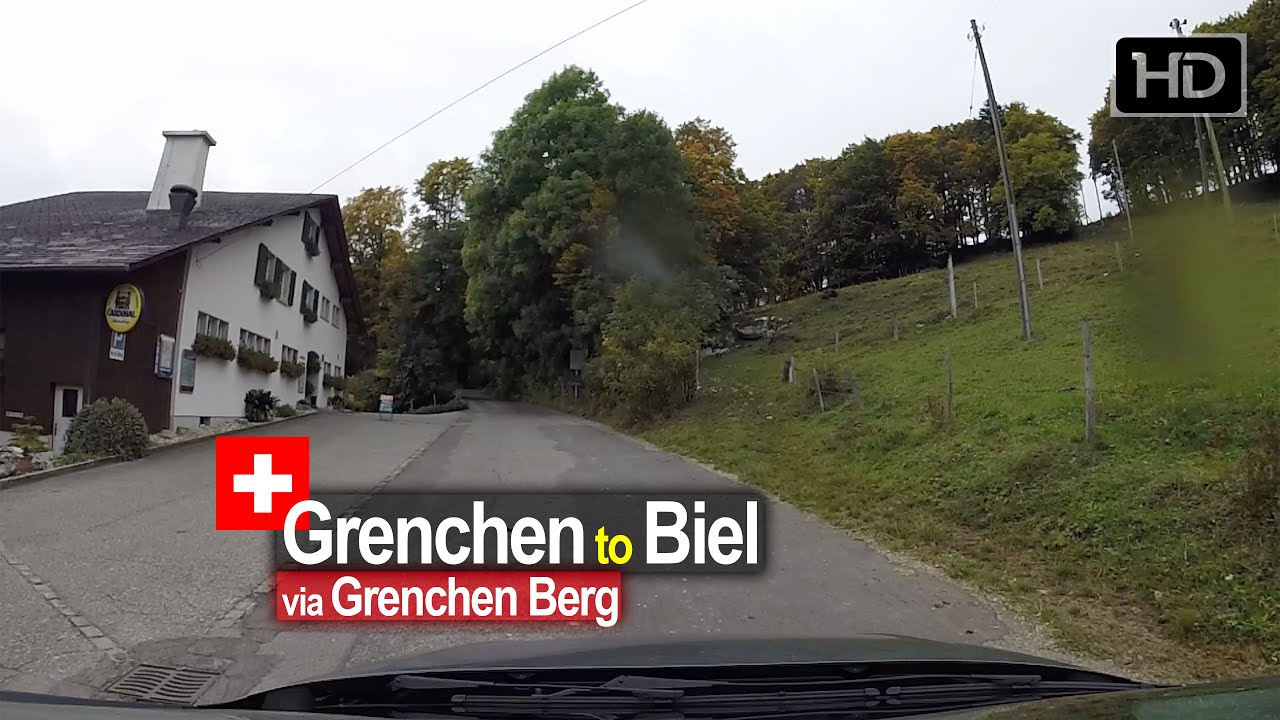 Driving in SWITZERLAND | Grenchen to Biel via Grenchenberg – on a RAINY day