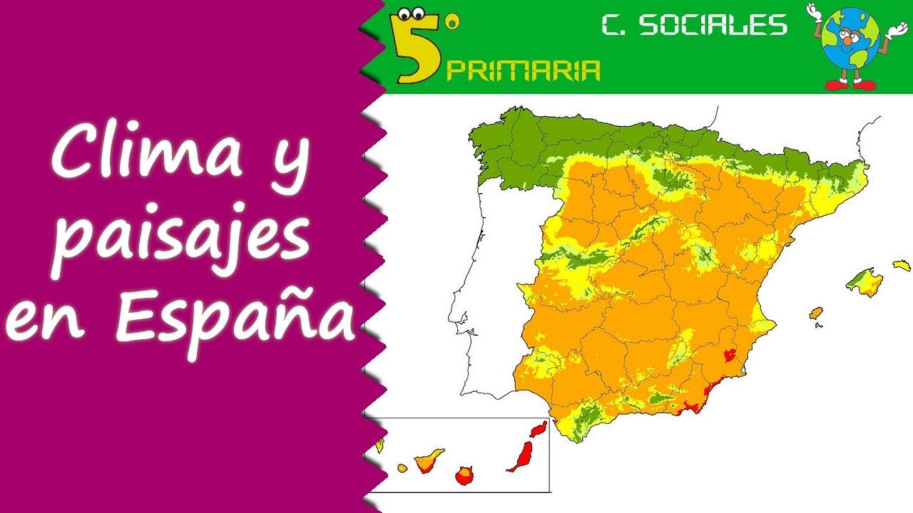 Climas y paisajes de España. Sociales, 5º Primaria. Tema 3