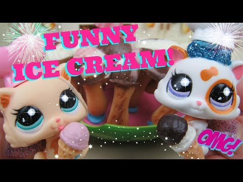 LPS- Cooking With Chef Emily Episode 5: Chef Polly & Lulu Make Ice Cream!