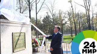 Рахмон открыл сквер с государственным флагом в Бустоне - МИР 24