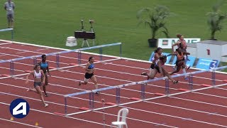 Bondoufle 2018 : Finale 100 m haies Cadettes (Léa Vendome en 13''50)