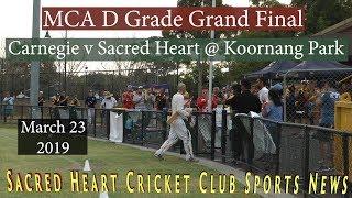 Carnegie vs Sacred Heart - D Grade Grand Final,  23th. March 2019