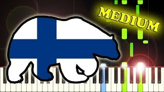 FINLAND NATIONAL ANTHEM - MAAMME - Piano Tutorial