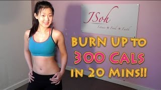 Burn Up To 300 Cals in 20 Mins! High Intensity Fat Burning Workout by Joanna Soh Official