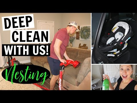 GETTING READY FOR BABY! // DEEP CLEANING // NESTING