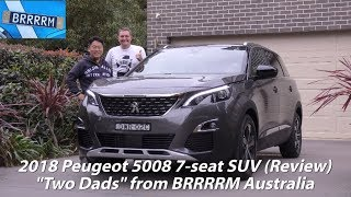"""2018 Peugeot 5008 7-seat SUV (""""Two Dads"""" Review)   BRRRRM Australia"""