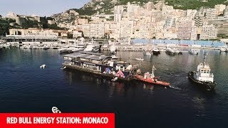 The Red Bull Energy Station: How it is built and moored for the Monaco Grand Prix!