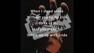 Judas Priest — Red, White and Blue (lyrics on screen)