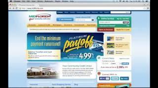 MIDFLORIDA Credit Union Online Banking Login Instructions