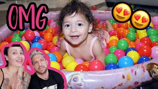 SERENITY'S FIRST BALL PIT!! **exciting**