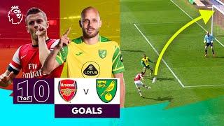 10 AMAZING Arsenal vs Norwich City goals | Premier League | Jack Wilshere & Teemu Pukki