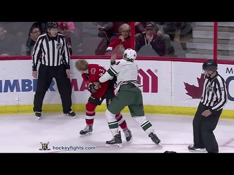 Mathew Dumba vs Ryan Dzingel