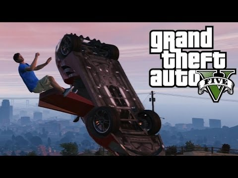 GTA 5 Online - Driving Off Cliffs And Stuff