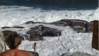 Coogee Beach NSW Big Waves 29/01/13
