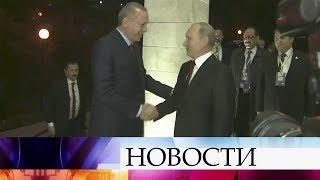 Отношения России иТурции обсуждают вСочи президенты Владимир Путин иРеджеп Тайип Эрдоган.