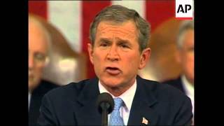 President George W Bush's first State of the Union Speech