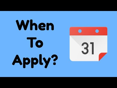 11. when should i submit my job application?