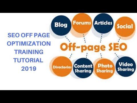 seo off page optimization training tutorial 2019
