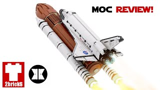 Space Shuttle (1:110 Scale) - 2Bricks MOC Review!