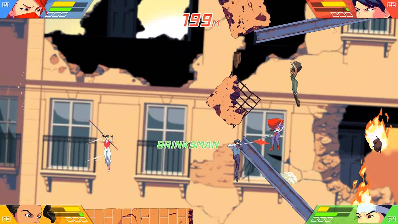 Lotta mentre cadi in SkyScrappers, in uscita oggi per PS4