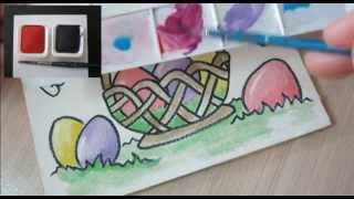 Easter Cards Ideas Write Easter Greetings -Paint  Happy Easter - Cards to make