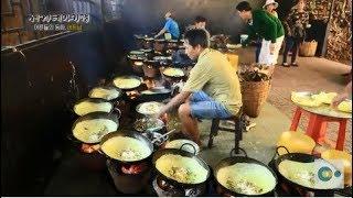 지글지글 바삭바삭! 베트남식 해물 부침개 '반쎄오'