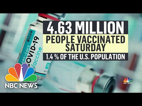 Record-Breaking 4.6 Million Vaccine Doses Administered on Saturday | NBC Nightly News