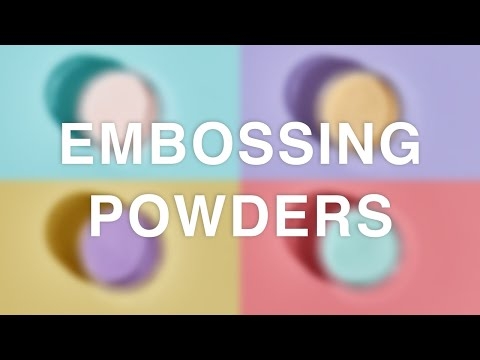 Brand New Embossing Powders - Sizzix
