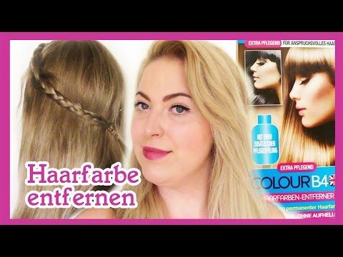 Haarfarbe entfernen rausziehen | Haare entfärben Colour Before | ursprüngliche Haarfarbe Colour B4