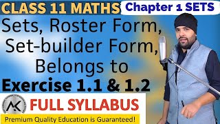 Exercise 1.1 & 1.2 Chapter 1 Sets Class 11 Maths IIT JEE Mains