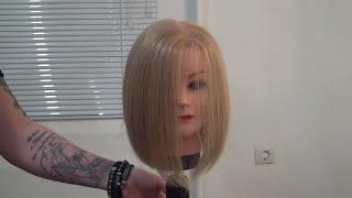 Мастер-класс для парикмахеров по стрижке каре боб Трэйси. Курсы парикмахеров Артема Любимова.