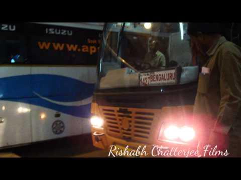 APSRTC SUPER LUXURY BUS HYDERABAD - BANGALORE AT MGBS,HYDERABAD