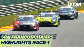 Tough race for tyres and drivers | Highlights Race 1 | DTM Spa-Francorchamps 2020