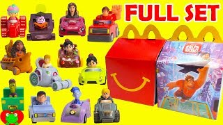 2018 Ralph Breaks the Internet Movie McDonald's Happy Meal Toys Full Set