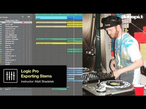 Logic Pro Video Tutorial: Tips + Techniques for Creating + Export Audio Track Stems