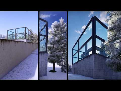 A short animation showing Tadao Ando's 'Chapel on the Water' in Hokkaido, Japan