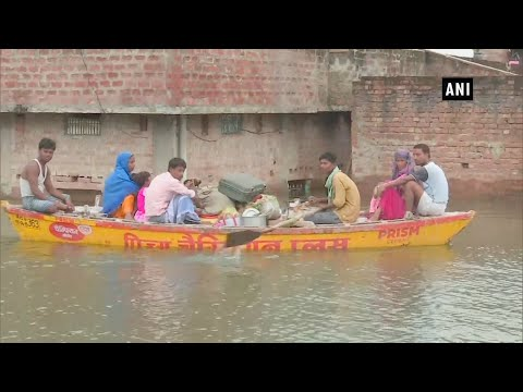 Watch: Locals use boats to commute as water level of Ganga rises further