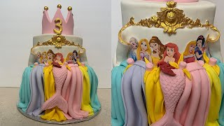 Disney Princess Cake With GOLD Detail | Mundheep Makes