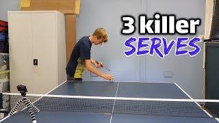 3 KILLER SERVES TO SMASH YOUR OPPONENT - TUTORIAL